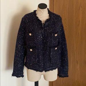 Zara knit sequined blazer